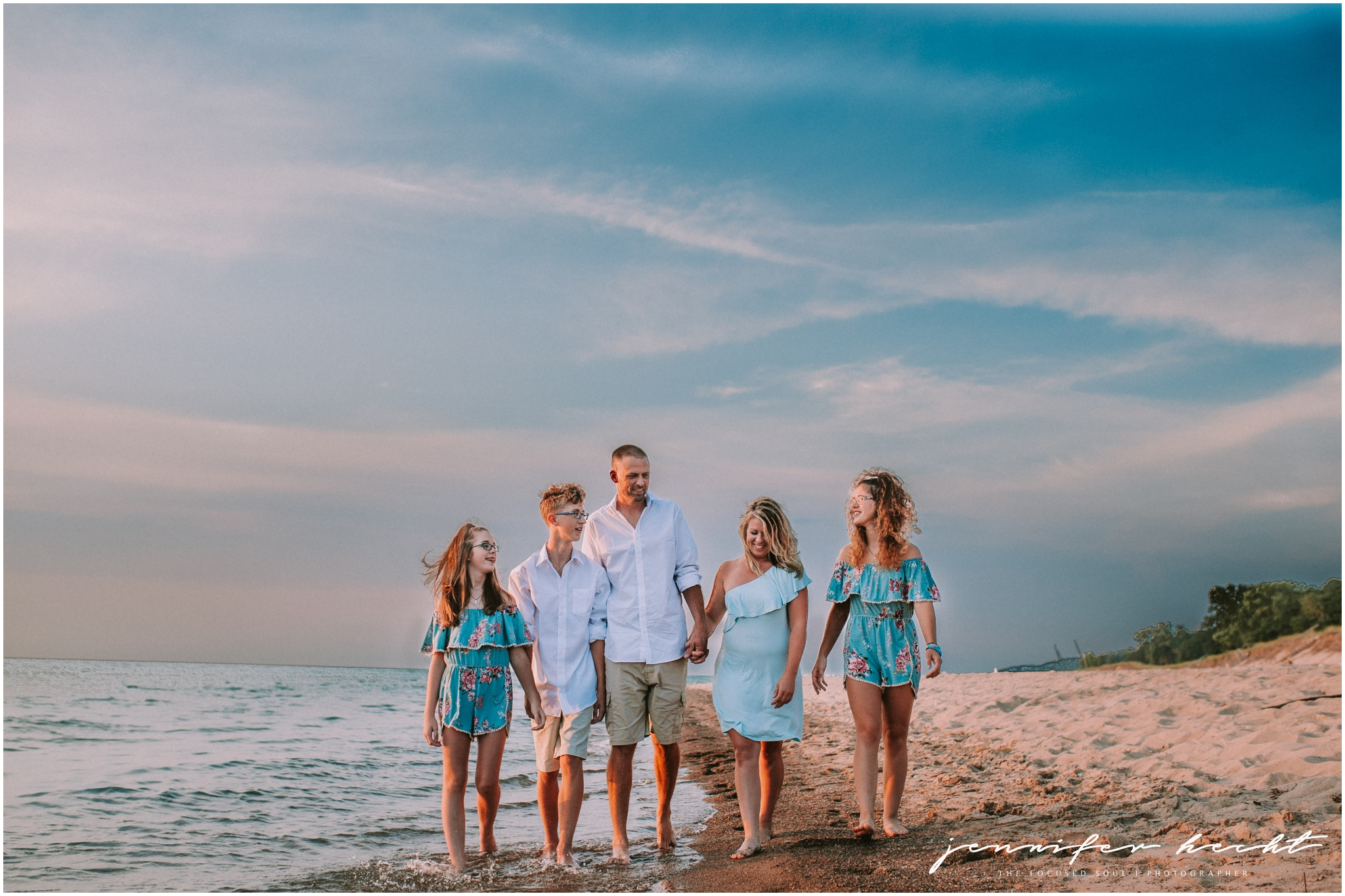 Lake Michigan Family Session Weko Beach Photographer