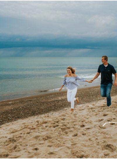 Ariel + Josh • Weko Beach Engagement Session (Destination Engagement Photographer)