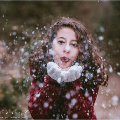 Garryn Winter Senior Session | Timberly Tree Farms